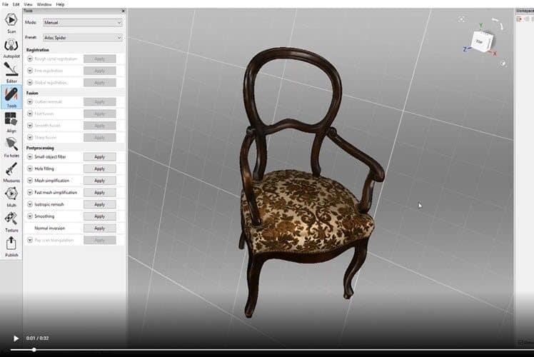 Artec Studio 14 - 1 Klick Positionierung